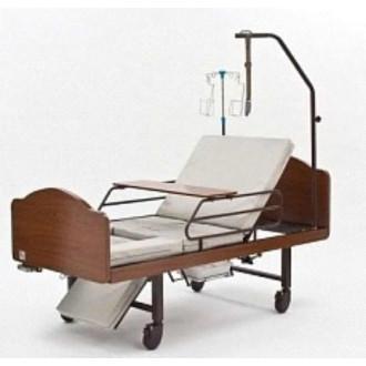 Кровать функциональная медицинская 3-х секционная механическая с санитарным оснащением DHC FF-3 в Казани