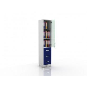 Шкаф для документов (верх стекло, низ ящики выдвижные) 105-001-13 в Казани