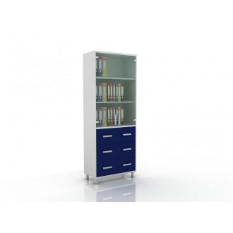 Шкаф для документов (верх стекло, низ ящики) 105-003-11 в Казани