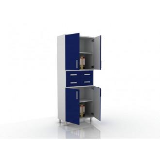 Шкаф для документов (глухие дверцы, 4 ящика в центре) 105-003-18 в Казани