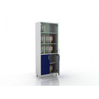 Шкаф для документов (стекло и глухие дверцы) 105-003-2 в Казани