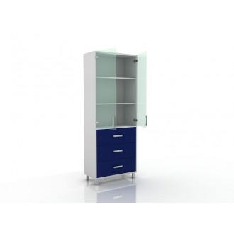 Шкаф для документов (верх стекло, низ ящики) 105-003-20 в Казани