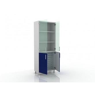 Шкаф для медикаментов (верх стекло, низ- глухие двери) 105-004-16 в Казани