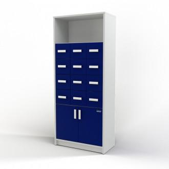 Шкаф картотечный (полки/глухие дверцы) 105-004-3 в Казани