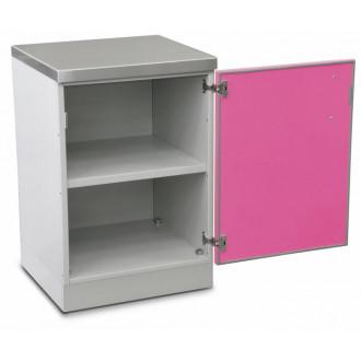 Шкаф медицинский нижний для хранения инструментов и перевязочного материала (с полками, одностворчатый) в Казани