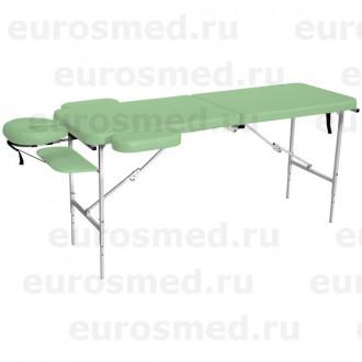 Массажный стол MedMebel №52 с подголовником и подлокотниками в Казани