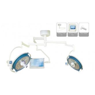 Светодиодный хирургический светильник двух купольный YDZ700/500 plus со встроенной камерой и монитором в Казани