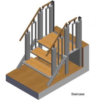 Лестница-трансформер FlexStep V2 / 3+1 ступеньки / высота подъёма до 740 мм в Казани